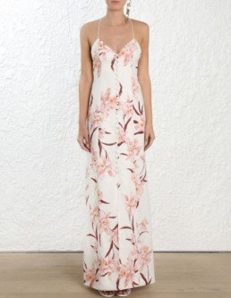 ZIMMERMANN Corsage Slip Ivory Dress