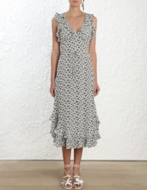 ZIMMERMANN Ruffle Print Dress