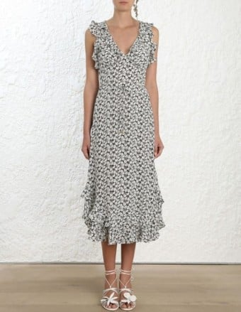 ZIMMERMANN Ruffle Print Dress