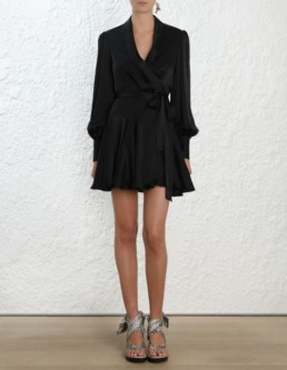 ZIMMERMANN Wrap Mini Black Dress 2
