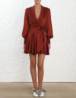 ZIMMERMANN Wrap Mini Red Dress