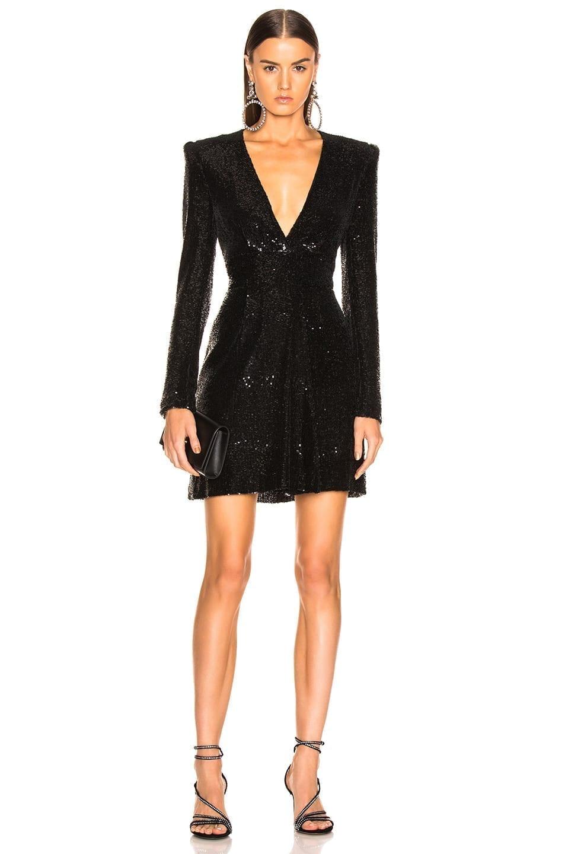 A.L.C. Sequin Mara Black Dress