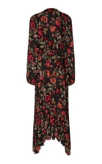 A.L.C. Stanwyck Tiered Floral-Print Crepe De Chine Midi Floral Dress 2