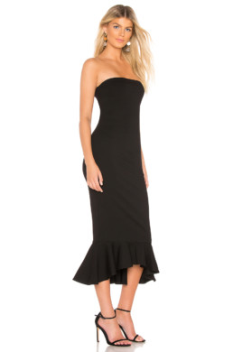 ABOUT US Izzy Ruffle Maxi Black Dress 2