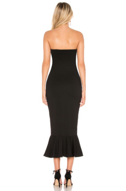 ABOUT US Izzy Ruffle Maxi Black Dress 3