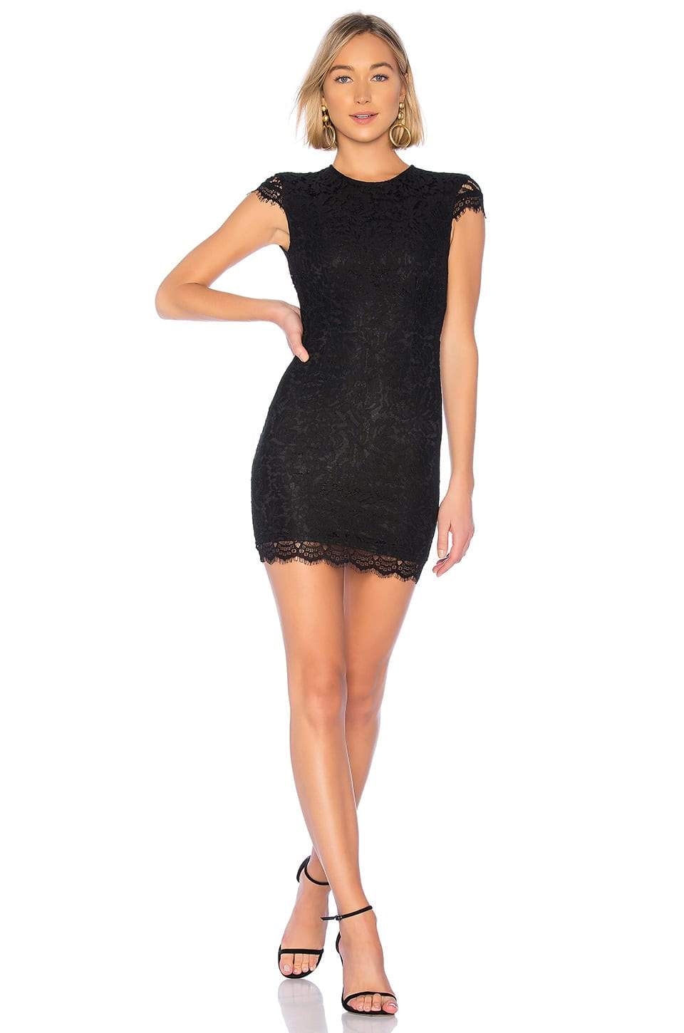 ABOUT US Rory Lace Black Dress