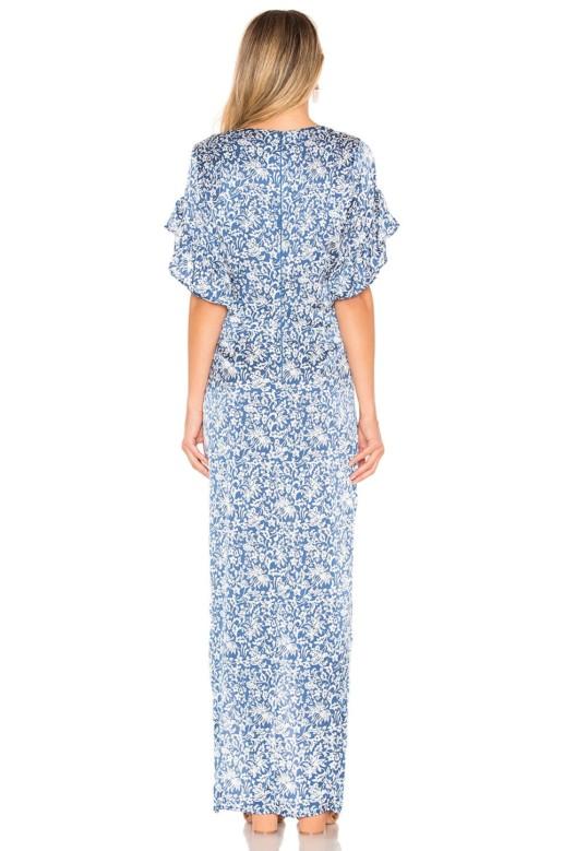 ACACIA SWIMWEAR Luau Silk Blue Dress 3