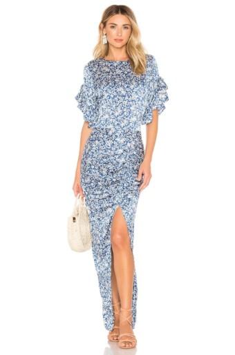 ACACIA SWIMWEAR Luau Silk Blue Dress
