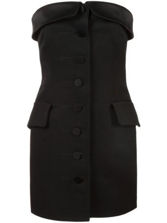 ALEXANDER WANG Strapless Tuxedo Black Dress 2