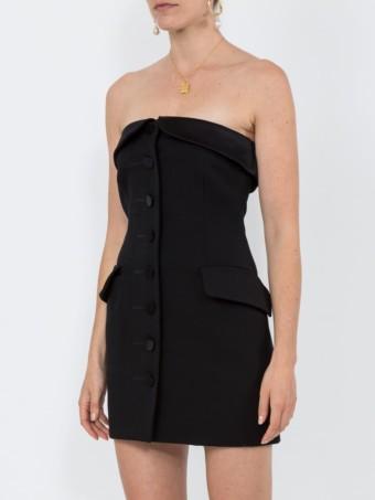 ALEXANDER WANG Strapless Tuxedo Black Dress 3