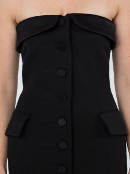 ALEXANDER WANG Strapless Tuxedo Black Dress 6