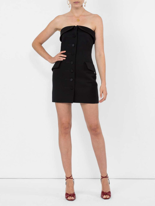 ALEXANDER WANG Strapless Tuxedo Black Dress