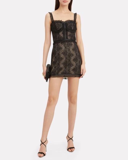 ALEXIS Kelsi Lace Mini Black Dress