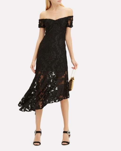 ALICE MCCALL Fleur De Lys Black Dress