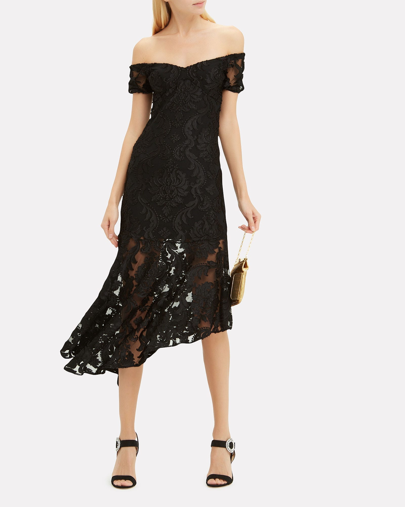 ALICE MCCALL Fleur De Lys Black Dress