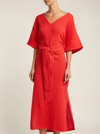 ANAAK Kai Belted Cotton Red Kaftan 2