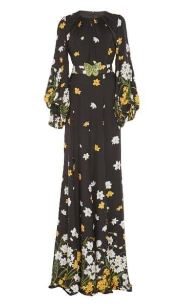 ANDREW-GN-Crystal-Embellished-Floral-Print-Silk-Black-Gown-3