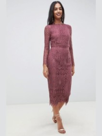 ASOS-DESIGN-Lace-Long-Sleeve-Midi-Pencil-Plum-Dress