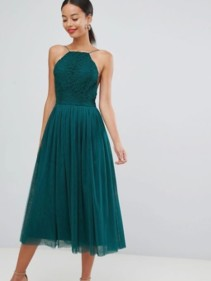 ASOS-DESIGN-Premium-Tall-Tulle-Midi-Prom-Green-Dress