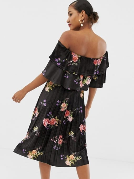 ASOS-DESIGN-Printed-Velvet-Double-Ruffle-Pleated-Midi-Multi-Dress-2