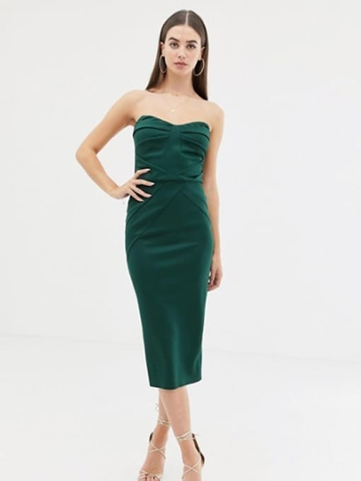 ASOS-DESIGN-Tall-Seamed-Bandeau-Midi-Bodycon-Green-Dress