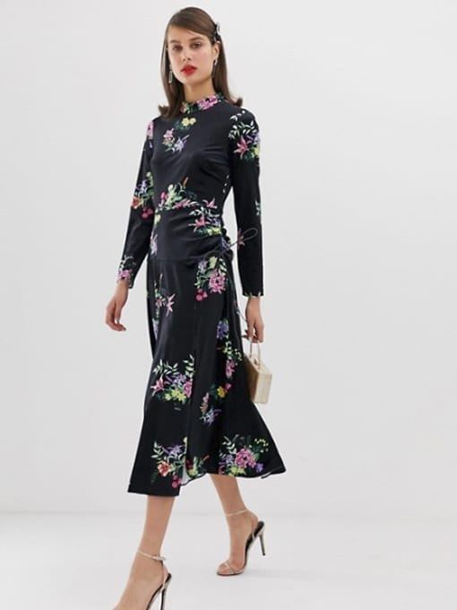 ASOS-DESIGN-Velvet-Ruched-Midi-Dress-In-Floral-Multi-Print