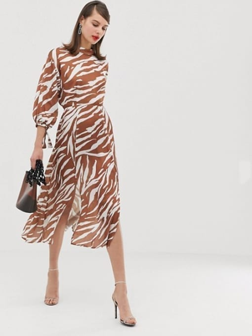 ASOS-DESIGN-Zebra-Print-Midi-Multi-Dress