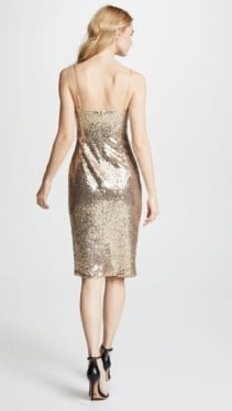 BLACK HALO Bowery Sequin Sheath Metallic Dress 2