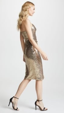 BLACK HALO Bowery Sequin Sheath Metallic Dress 3
