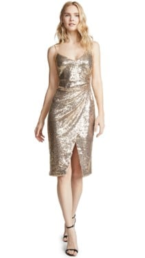 BLACK HALO Bowery Sequin Sheath Metallic Dress 5