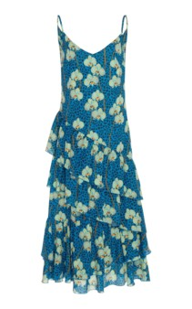 BORGO DE NOR Coco Ruffled Printed Crepe Midi Floral Dress 3