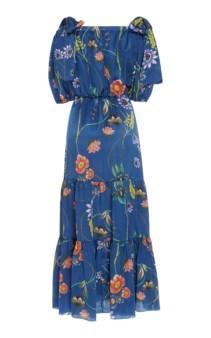 BORGO DE NOR Rosa Floral-Print Silk-Georgette Maxi Dress 2