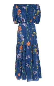 BORGO DE NOR Rosa Floral-Print Silk-Georgette Maxi Dress 3