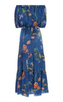 BORGO DE NOR Rosa Floral-Print Silk-Georgette Maxi Dress 4