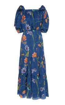 BORGO DE NOR Rosa Floral-Print Silk-Georgette Maxi Dress