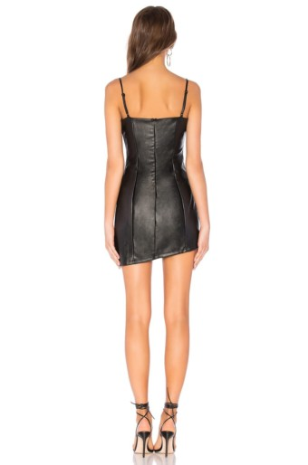 BY THE WAY Maritza Asymmetrical Black Dress 3