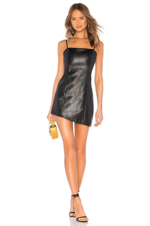 BY THE WAY Maritza Asymmetrical Black Dress