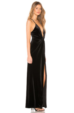 BY THE WAY. Aurora Deep V Maxi Black Dress 2