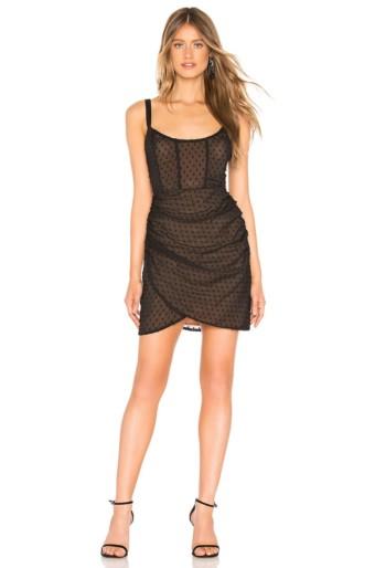 BY THE WAY. Valeria Draped Corset Black Dress