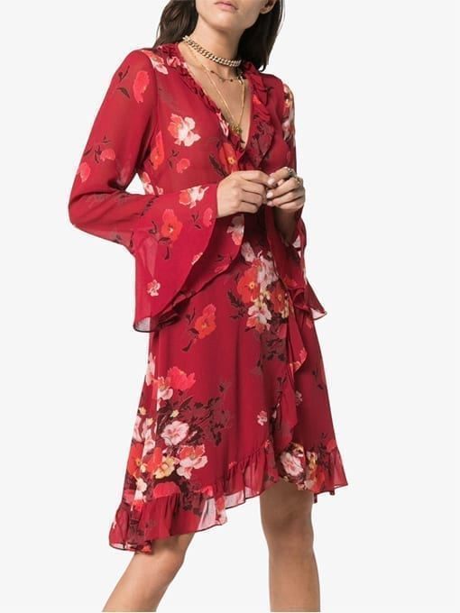 BY-TIMO-Floral-Print-Wrap-Red-Dress