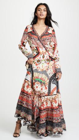 CAMILLA Cross Front Maxi Multi Dress 4