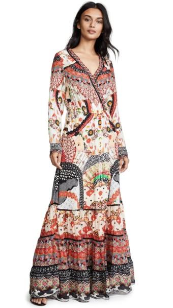 CAMILLA Cross Front Maxi Multi Dress 6