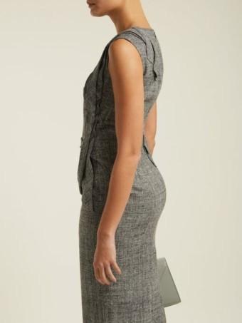 CARL KAPP Nectar Folded-panel Midi Grey Dress 3