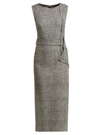 CARL KAPP Nectar Folded-panel Midi Grey Dress 5