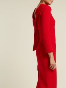 CARL KAPP Noah Cowl-neck Wool Red Dress 3