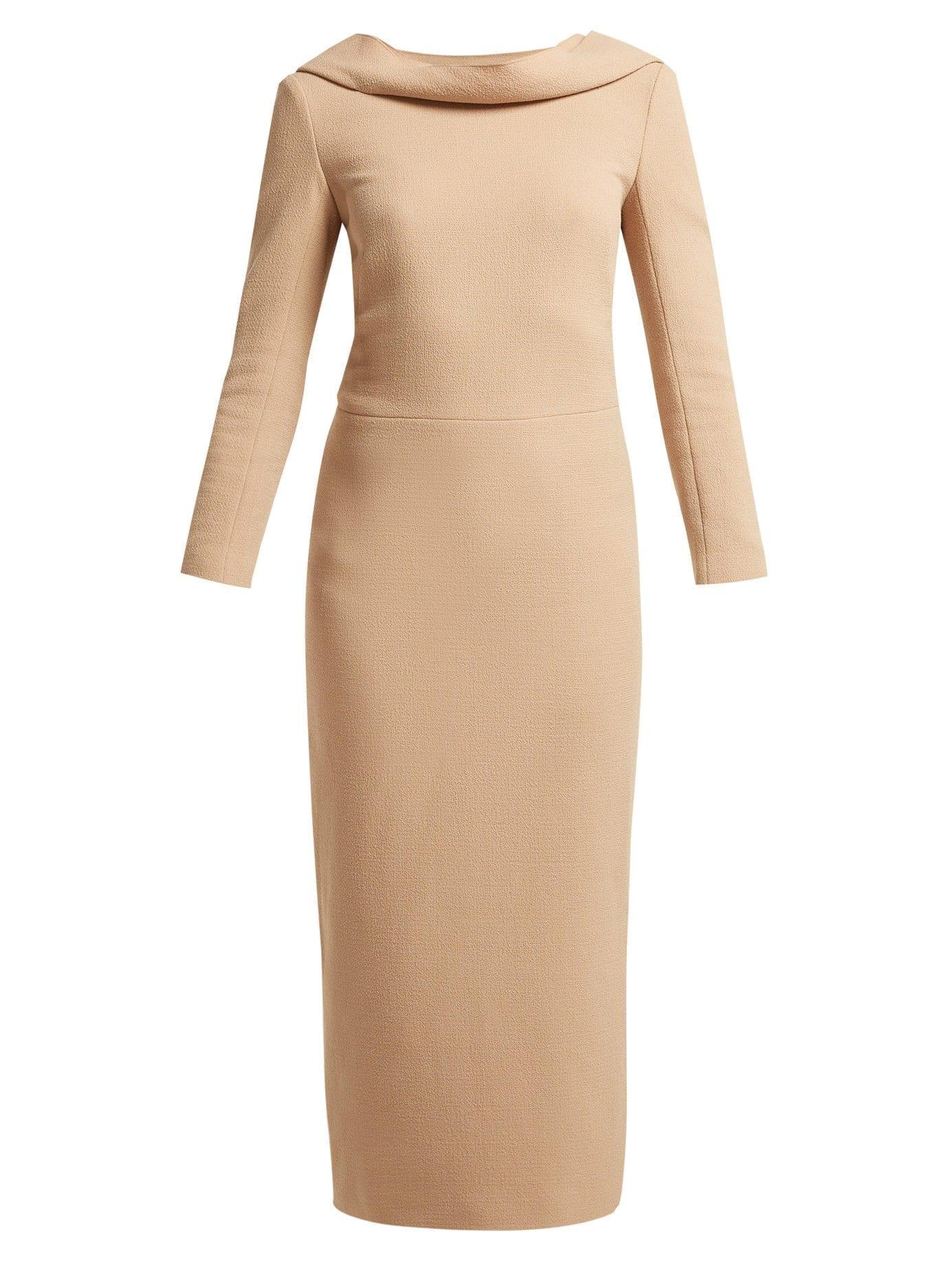 CARL KAPP Noah Wool-crepe Camel Dress 2