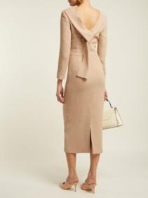 CARL KAPP Noah Wool-crepe Camel Dress 3