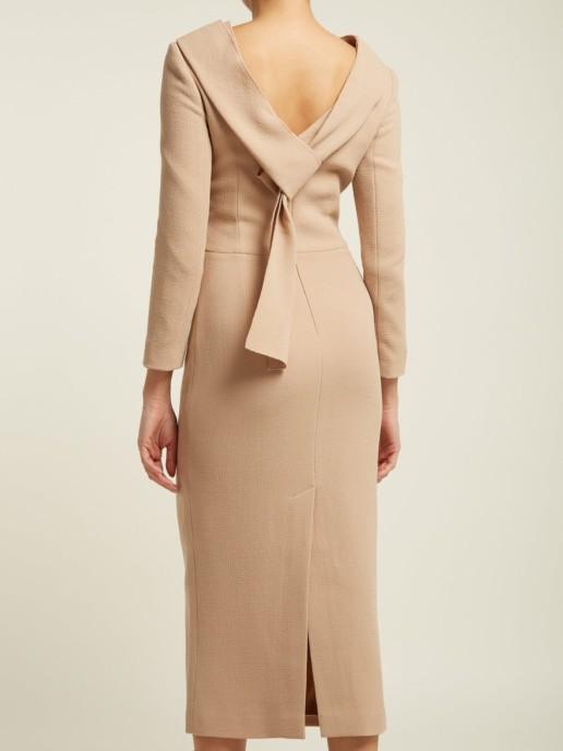 CARL KAPP Noah Wool-crepe Camel Dress 4