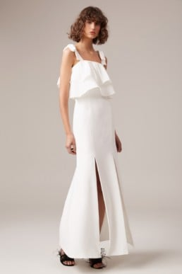 CMEO COLLECTIVE Be About You Ivory Gown