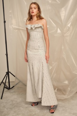 CMEO COLLECTIVE Even Love Ivory Gown 2